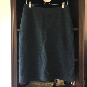 Brooks Brothers Charcoal Gray Wool Pencil Skirt
